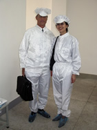 "While these clothes may not be the latest fashions they are great in keeping to our ""clean room"" environment."