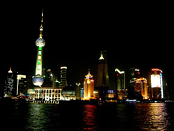 Pudong at Night looking from the Bund