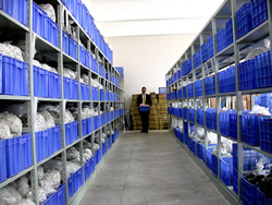 Nothing enters one of our many controlled stock rooms unless parts are properly inspected.