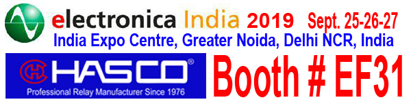 Hasco at Electronica India 2019. India Expo Centre, Greater Noida, Delhi NCR, India. Booth #EF31